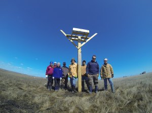 COA's Student Ocean Advocates helped Conserve Wildlife Foundation of NJ replace osprey nests damaged by Sandy in Stafford Twp NJ on March 23!